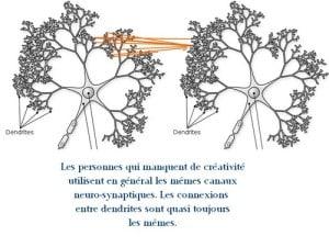 Comment avoir des idées connexions neurologiques et synaptiques d'une personne peu créative