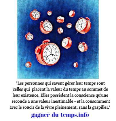 La gestion du temps passe par la prise de conscience de la valeur inestimable du temps