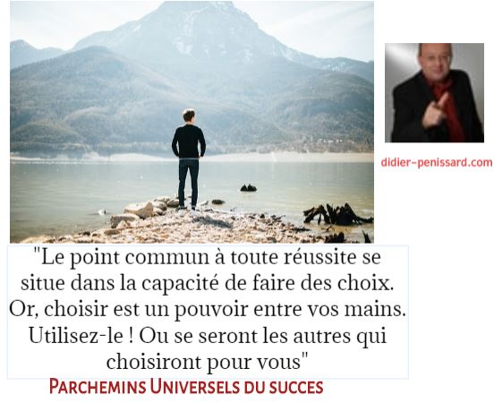 Citations motivation décision parchemins universels du succès