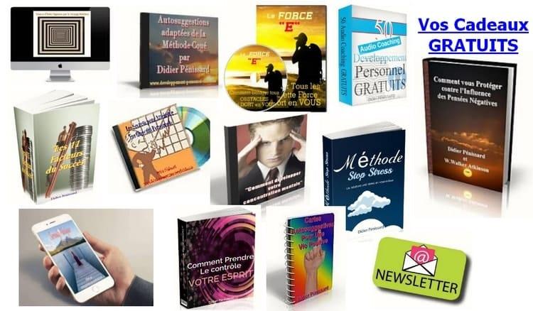 Développement personnel gratuits Téléchargez vos cadeaux de bienvenue