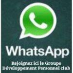 WhatsApp groupe développement personnel